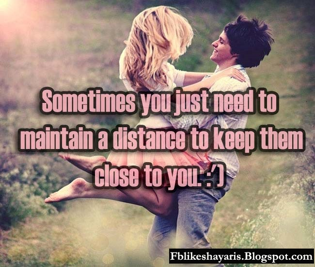 Sometimes you just need to maintain a distance to keep them close to you. :')