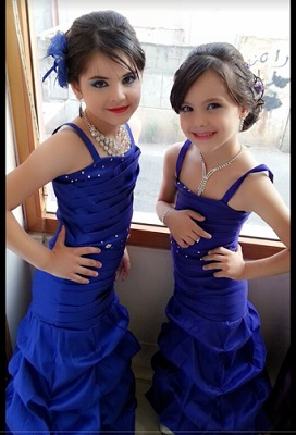 Beautiful Small Arab Kids In Blue Dress