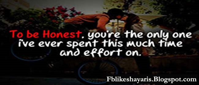 To be honest, you're the only one i've ever spent this much time and effort on.