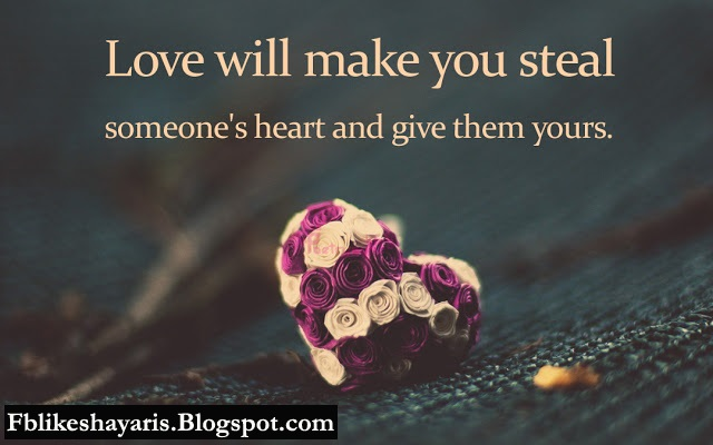 Love will make you steal