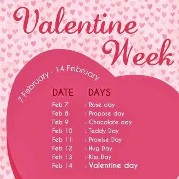 Valentine Week List 2016 Dates Schedule