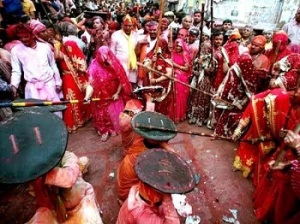 Famous Holi of Barsana Festival of Colours in India